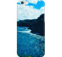 Bay On The Road To Hana Maui Abstract Impressionism iPhone Case/Skin