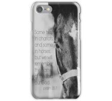 Psalm 20 Horse iPhone Case/Skin