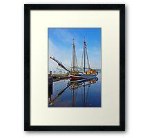Tall Ship Larinda at Shelburne, Nova Scotia, Canada Framed Print