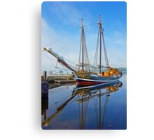 Tall Ship Larinda at Shelburne, Nova Scotia, Canada Canvas Print