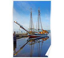 Tall Ship Larinda at Shelburne, Nova Scotia, Canada Poster