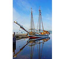 Tall Ship Larinda at Shelburne, Nova Scotia, Canada Photographic Print