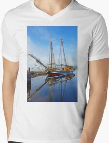 Tall Ship Larinda at Shelburne, Nova Scotia, Canada Mens V-Neck T-Shirt