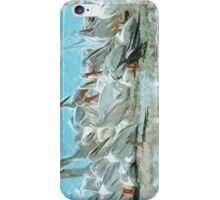 White Pelicans and Black Friend Abstract Impressionism iPhone Case/Skin