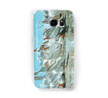 White Pelicans and Black Friend Abstract Impressionism Samsung Galaxy Case/Skin