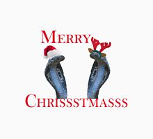 Merry Christmas Snakes In Antlers & Santa Hat T-Shirt