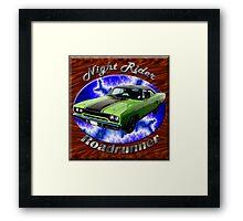 Plymouth Roadrunner Night Rider Framed Print