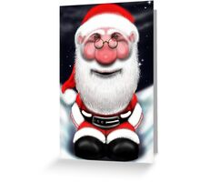 Santa Claus Red Christmas Card / Pillows Greeting Card