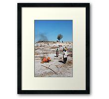 Heat.  Framed Print
