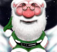 Santa Claus Green Christmas  by Sookiesooker