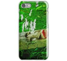 Red Lipped Totem Among Flowers Abstract Impressionism iPhone Case/Skin