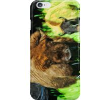 Wild American Bison With Calf Abstract Impressionism iPhone Case/Skin