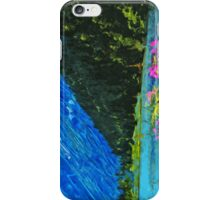 Lakeside Road to Seward Alaska Abstract Impressionism iPhone Case/Skin