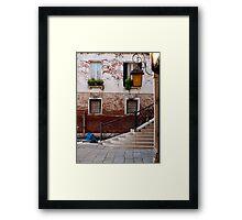 A Little Venetian Corner Framed Print