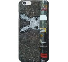 Sweet rabbit hide in the city :D iPhone Case/Skin