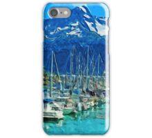 Harbor of Seward Alaska Abstract Impressionism iPhone Case/Skin
