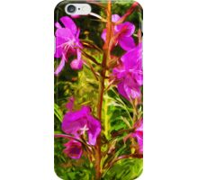 Purple Fireweed Alaska State Flower Abstract Impressionism iPhone Case/Skin