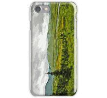 Overcast at Denali National Park Alaska Abstract Impressionism iPhone Case/Skin