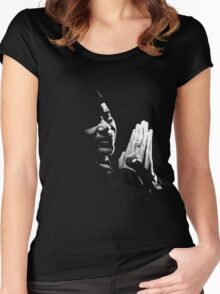 Kenny on a black background Women's Fitted Scoop T-Shirt