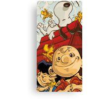 Charlie Brown Snoopy Canvas Print