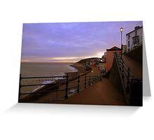 Sunset on Cromer Promenade Greeting Card
