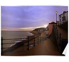 Sunset on Cromer Promenade Poster