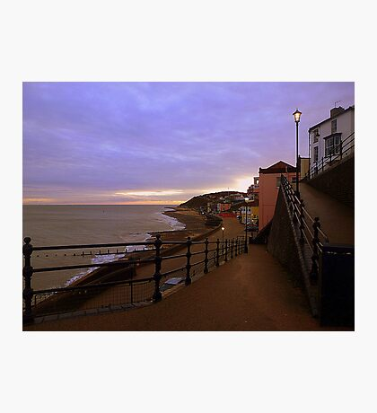 Sunset on Cromer Promenade Photographic Print