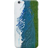 Denali With Rivers Alaska Abstract Impressionism iPhone Case/Skin