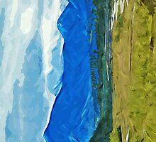Denali Alaska Road Abstract Impressionism by pjwuebker