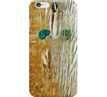 Mallard Ducks Swimming Abstract Impressionism iPhone Case/Skin