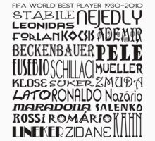 FIFA World Cup Best Player 1930-2010 [Black] by V-Art