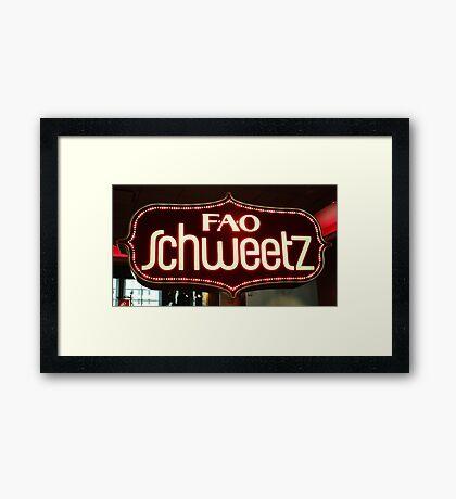 FAO Schweetz Framed Print