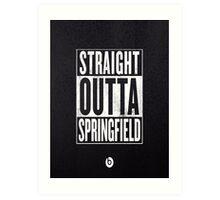 The Simpsons, Springfield Art Print