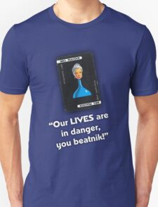 Clue - Mrs Peacock Beatnik T-Shirt