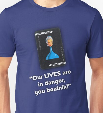 Clue - Mrs Peacock Beatnik Unisex T-Shirt