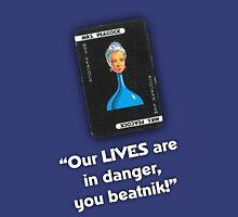 Clue - Mrs Peacock Beatnik Unisex T-Shirt
