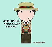 Anybody Remotely Interesting -- Doctor Who 7th Doctor by Jen  Talley