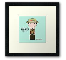 Anybody Remotely Interesting -- Doctor Who 7th Doctor Framed Print