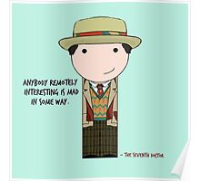 Anybody Remotely Interesting -- Doctor Who 7th Doctor Poster