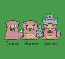 Three Wise Slowpokes by Servil