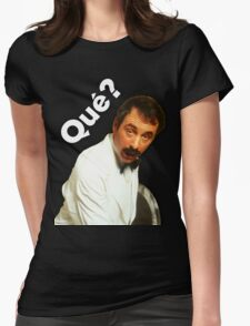 Manuel - Que? Womens Fitted T-Shirt