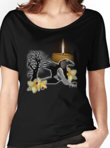 flame of the orchid crow Women's Relaxed Fit T-Shirt