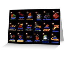 NBA Team Logos Collector edition Greeting Card