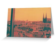 hotel view Greeting Card