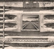 Running Down The Line Sepia by Bo Insogna