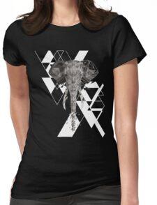 Geometric Elephant  Womens Fitted T-Shirt