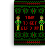 Get Elfd Up Buddy Elf Ugly Christmas Sweater Canvas Print