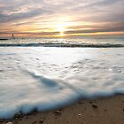 Sunset on Seaford beach by willgudgeon