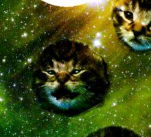 three cosmic kittens Sticker