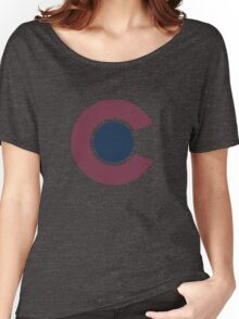 Colorado Avalanche Alternate Logo Vintage Rockies Women's Relaxed Fit T-Shirt